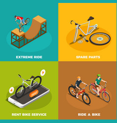 bicycles isometric design concept vector image