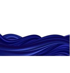Blue wave swirl smooth silk or satin texture wavy vector