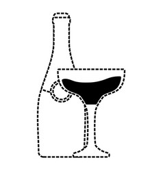 bottle champagne vector image