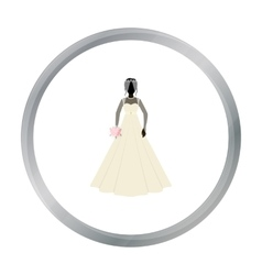 Bride icon in cartoon style isolated on white vector
