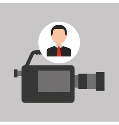 Businessman movie camcorder icons vector