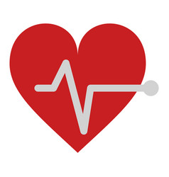 cardiology heartbeat symbol isolated vector image