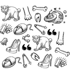 Cartoon characters seamless pattern vector