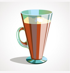 cartoon of coffee latte in vector image