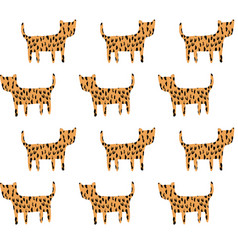 cheetah pattern vector image