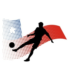 chile soccer player against national flag vector image