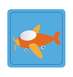 Color toy airplane fly picture icon vector