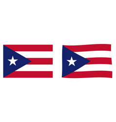 Commonwealth puerto rico flag simple and vector