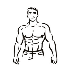 concept of man bodybuilder vector image
