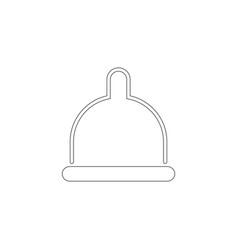 condom flat icon vector image