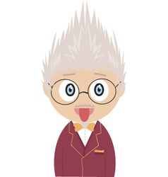 Crazy professor vector image