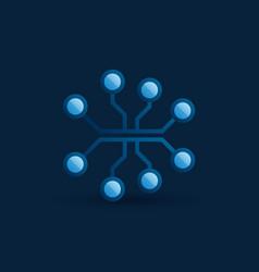 Digital brain icon ai brain concept sign vector