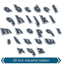 Dimensional move font line retro style geometric vector image