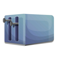 double toaster icon cartoon style vector image