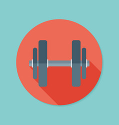 Dumbbell flat icon with long shadow eps10 vector