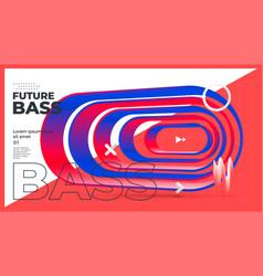 Electronic music fest summer wave poster design vector