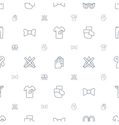 Fabric icons pattern seamless white background vector