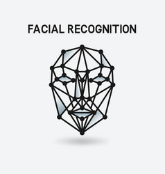 facial recognition system 3d face vector image