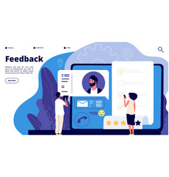 Feedback rating concept online customers product vector