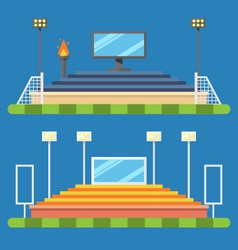 Flat design of sport stadium vector image