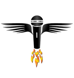 Flying Microphone vector image vector image