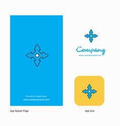 four way arrow company logo app icon and splash vector image