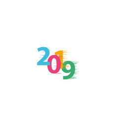 happy new year 2019 with speedy line on white vector image