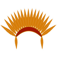 indian hat with feathers vector image