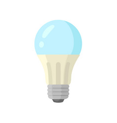 led blue light lamp bulb colorful icon vector image