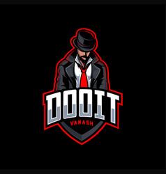 mafia mascot esport logo vector image