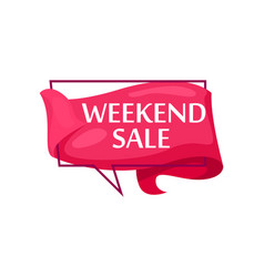 marketing speech bubble with weekend sale phrase vector image