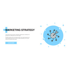 marketing strategy icon banner outline template vector image