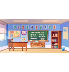 mathematics classroom empty interior school class vector image