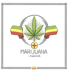 Medical Marijuana Logo Nine vector