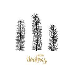 Merry christmas hand drawn creative calligraphy vector