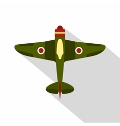 Military plane icon flat style vector image