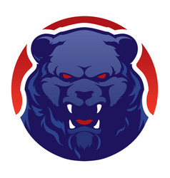 Modern professional logo with grizzly bear vector