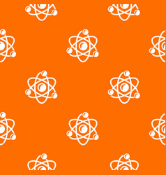 molecule genetics pattern orange vector image