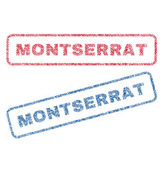Montserrat textile stamps vector