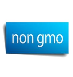 Non gmo blue paper sign on white background vector
