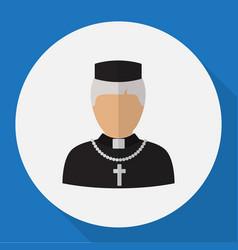 Occupation symbol on priest vector