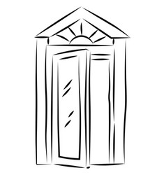 old window drawing on white background vector image