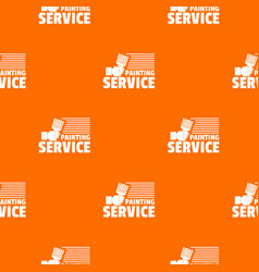 painting service pattern orange vector image