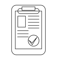 Paper sheet document icon outline style vector image