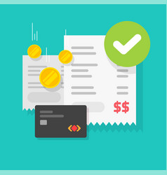 payment transaction success approved check mark vector image