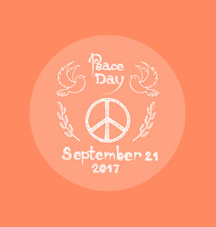 Peace day september 21 2017 vector