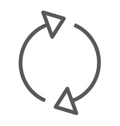 reload line icon rotation and spin arrow refresh vector image