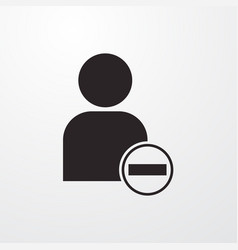 Remove user icon for web and mobile vector