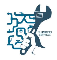 Repair of plumbing and water pipes vector