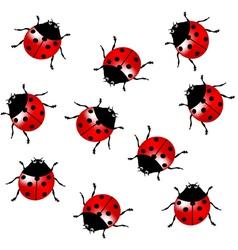 Seamless ladybugs vector